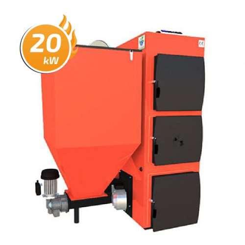 Kocioł C.O. Domino Bio z żeliwnym podajnikiem BATORY 20 kW
