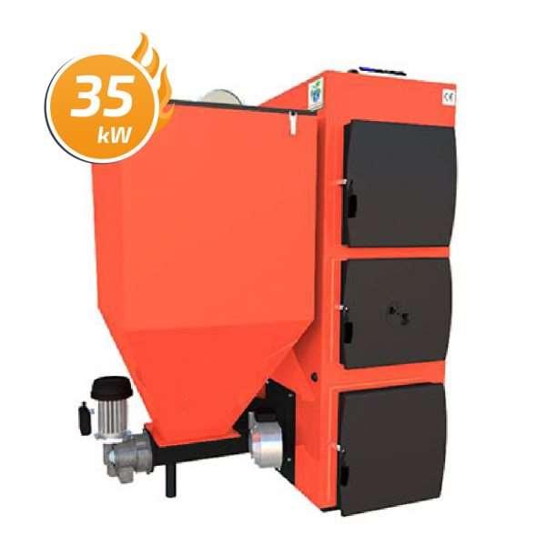 Kocioł C.O. Domino Bio z żeliwnym podajnikiem BATORY 35 kW
